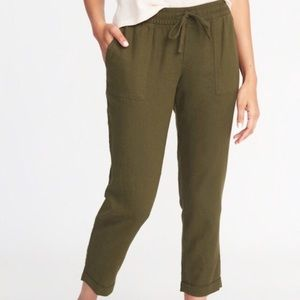Old Navy Linen Cropped Pants Small